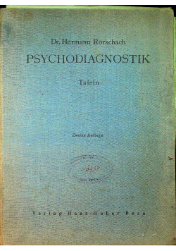 Psychodiagnostik Tafeln