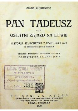 Pan Tadeusz 1929r