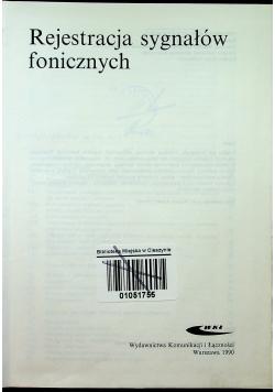 Rejestracja sygnałów fonicznych