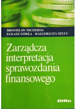 Zarządcza interpretacja sprawozdania finansowego
