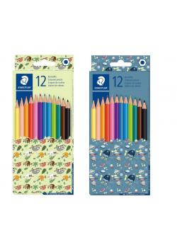 Kredki sześciokątne Pattern 12 kolorów STAEDTLER