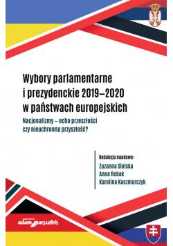 Wybory parlamentarne i prezydenckie 2019-2020 w państwach europejskich