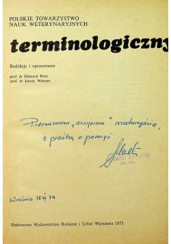 Weterynaryjny słownik terminologiczny
