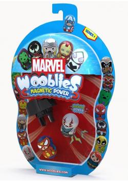 Wooblies Marvel + 2 figurki + wyrzutnia