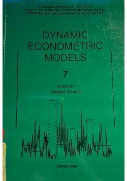 Dynamic Econometric Models 7
