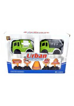 Pojazd ze znakami drogowymi Miasto