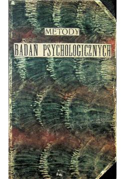 Metody badań psychologicznych w szkole 1925 r