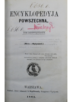 Encyklopedyja powszechna Tom XIX 1865 r.
