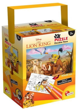 Puzzle mini 24 dwustronne w tubie Król Lew