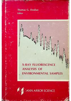 X ray fluorescence analysis of environmental samples