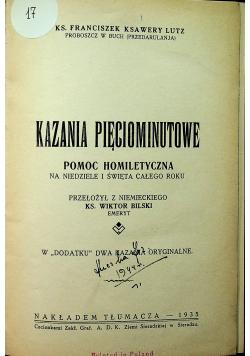 Kazania pięciominutowe 1935 r.