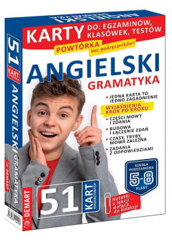 Język angielski. Gramatyka. Karty edukacyjne