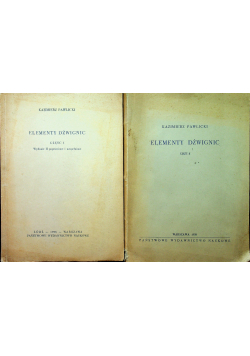 Elementy Dźwignic Cz I i II