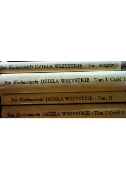 Kochanowski Dzieła wszystkie 4 tomy