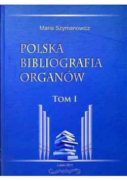 Polska bibliografia organów tom I