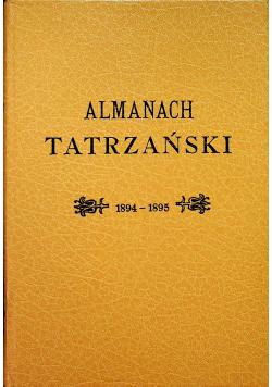 Almanach Tatrzańskich reprint z 1894r