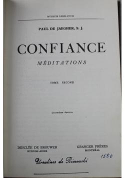 Confiance Meditations Tome Second 1939 r.