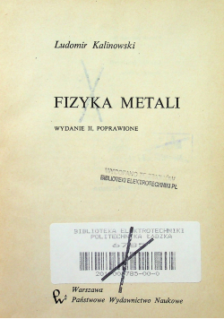 Fizyka metali