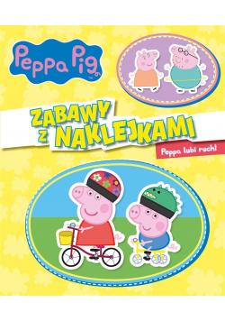 Peppa Pig. Zabawy z naklejkami. Peppa lubi ruch!