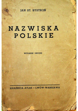 Nazwiska polskie 1936 r.