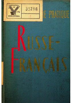 Petit Dictionnaire Praatique Russe Francais