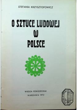 O sztuce Ludowej w Polsce
