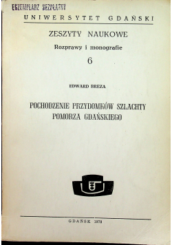 Pochodzenie przydomków szlachty Pomorza Gdańskiego