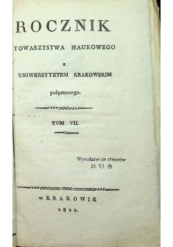 Rocznik towarzystwa naukowego VII 1822 r.