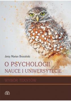 O psychologii nauce i uniwersytecie