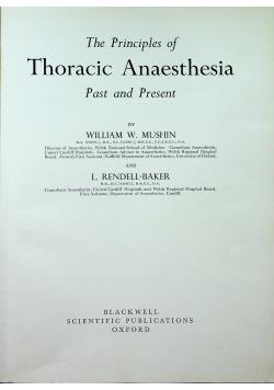 Thoracic Anaesthesia