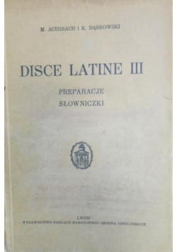 Disce Latine III 1936 r.