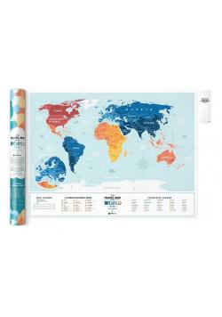 Mapa zdrapka - Travel Map Lagoon World EN