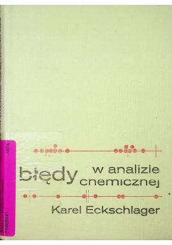 Błędy w analizie chemicznej
