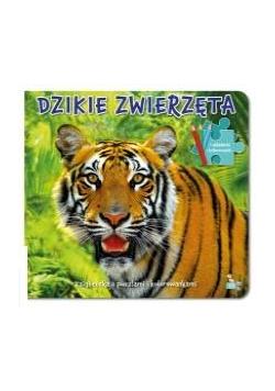 Dzikie zwierzęta. Książeczka z puzzlami i kolor.