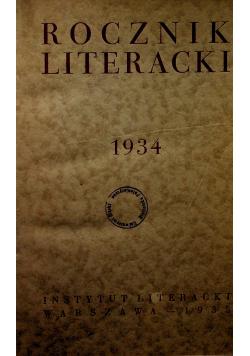 Rocznik literacki 1934 1935 r