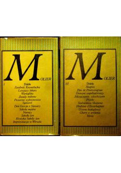 Dzieła Molier Tom I i III