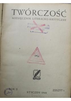 Twórczość miesięcznik literacko krytyczny 1946 r.
