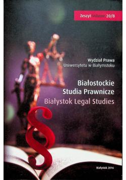 Białostockie Studia Prawnicze Zeszyt 20 B