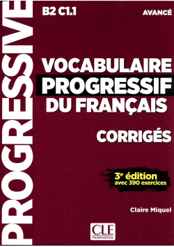 Vocabulaire Progressif du Francais Avance klucz Poziom B2-C1.1