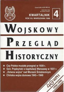 Wojskowy przegląd historyczny Rok XLI 4