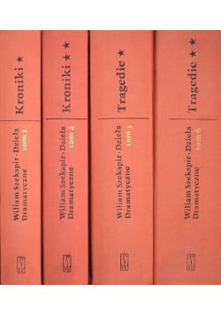 Szekspir dzieła dramatyczne tomy od 3 do 6