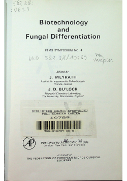 Biotechnology and fungal differentiation