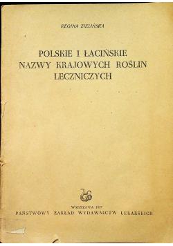 Polskie i łacińskie nazwy krajowych roślin leczniczych