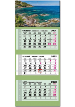 Kalendarz 2022 trójdzielny lux Korsyka