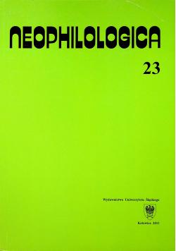 Neophilologica 23