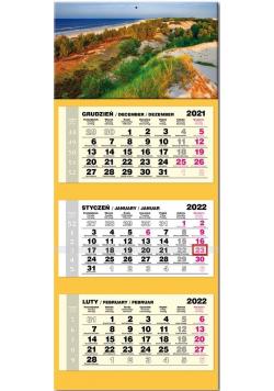 Kalendarz 2022 trójdzielny lux Bałtyk