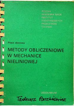 Metody obliczeniowe w mechanice nieliniowej