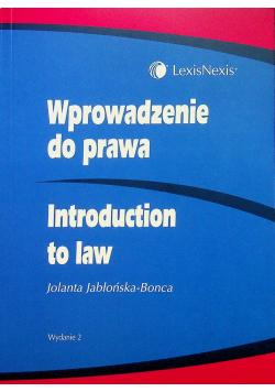 Wprowadzenie do prawa Introduction to Law