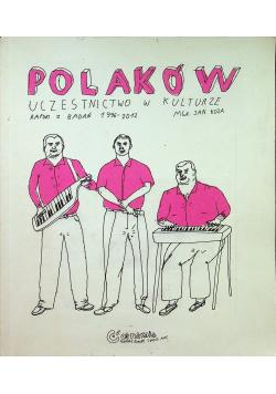 Polaków uczestnictwo w kulturze raport z badań 1996 2012