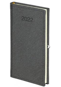 Kalendarz 2022 A6 tygodniowy Cross szary